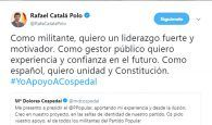Precioso (e importante) apoyo de Rafael Catalá a la candidatura de Cospedal