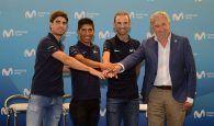 Telefónica recibió a las estrellas de Movistar Team antes de viajar al Tour de Francia, su gran reto del año
