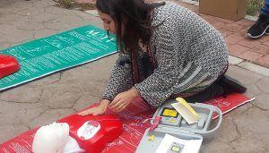 Un taller en Chiloeches forma a los vecinos sobre cómo actuar en caso de parada cardiorrespiratoria y atragantamientos