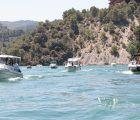 Celebrada la Procesión Marinera de la Liga Naval de Castilla-La Mancha en el embalse de Bolarque