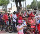 Chocolate, churros y bicicletas en el domingo pre Fiestas en Cabanillas