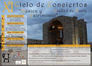 """La Asociación Cultural Ciudad de Huete presenta su XI Ciclo de Conciertos Ciudad de Huete """"Música y Patrimonio"""""""