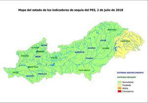La Confederación decreta la situación de prealerta en los embalses de cabecera del Tajo