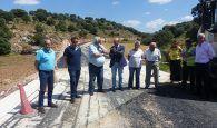 La Diputación de Guadalajara trabaja en la carretera de Alcolea del Pinar a Villaverde del Ducado ensanchando la vía y mejorando el firme