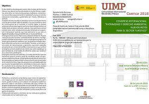 La sede de la UIMP en Cuenca celebra el Congreso Internacional Patrimonio y Derecho Ambiental
