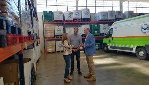 """Latre """"La Diputación seguirá colaborando con el Banco de Alimentos mientras las personas necesiten ayuda"""""""