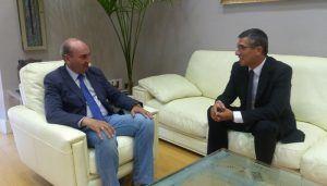 Latre se reúne con el subdelegado del Gobierno en Guadalajara