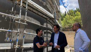 Mariscal comprueba las obras que por importe de 300.000 euros se están realizando en los principales depósitos de Cuenca