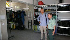 Primera visita institucional del Subdelegado del Gobierno en Cuenca a la  Comandancia de la Guardia Civil
