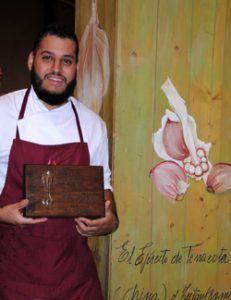 Ramces González, gana el X Concurso Nacional de Cocina `Ajo Morado de Las Pedroñeras´