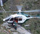 Rescatan en helicóptero a una pareja de Guadalajara que se accidentó en los Pirineos