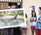Una imagen veraniega de la terraza del Mesón se hace con el Primer Premio del XVI Concurso de Pintura Rápida de Trillo