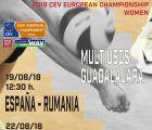 El Palacio Multiusos, acoge dos de los partidos clasificatorios para el Campeonato de Europa Femenino de Voleibol 2019