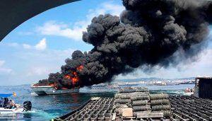 Fallece el vecino de Guadalajara herido en el incendio del catamarán de O Grove