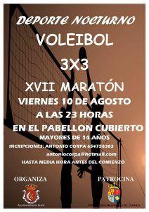 Huete celebrará su XVII Maratón de Voleibol 3×3 el viernes 10 de agosto