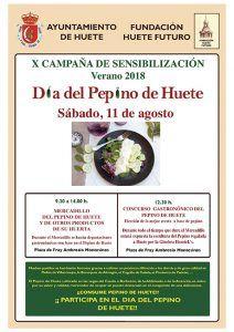 Huete volverá a homenajear a su producto estrella, el pepino, el próximo 11 de agosto
