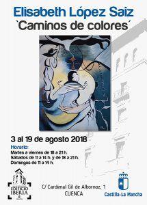 La pintora Elisabeth López Saiz expondrá en la Sala Iberia de Cuenca del 3 al 19 de agosto