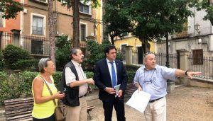 Mariscal visita el Jardinillo de El Salvador, cuyas obras de urbanización están en periodo de licitación