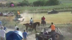 PACMA denuncia el atropello de un toro en un encierro por el campo en Centenera