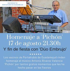 Portalrubio de Guadamejud rinde homenaje al músico conquense Antonio Álvarez Valencia 'Pichón' en sus fiestas de San Roque