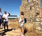 Prieto comprueba en Valeria el estado de las obras de recuperación del ninfeo y la ermita de Santa Catalina