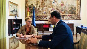 Prieto traslada a la Comisionada frente al Reto Demográfico la apuesta de la Diputación por Cuenca y su potencial