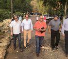 El delegado de la Junta en Guadalajara visita los municipios más afectados por las tormentas para conocer los daños sobre el terreno