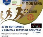 El domingo 23 de septiembre, V Campo a través de Ocentejo, cuarta carrera del Circuito de Montaña que organiza la Diputación de Guadalajara