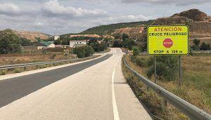 El Gobierno regional invierte más de 10.000 euros en mejorar el cruce entre la CM-310 y la N-320 en Cañaveras