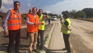 El subdelegado del Gobierno se interesa por los daños provocados por las tormentas en la comarca de La Alcarria