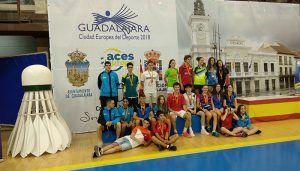 Excelentes resultados de los deportistas de Guadalajara en el Máster Nacional de Bádminton sub-15 y sub-19