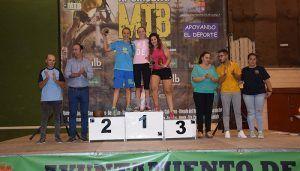 Juan Carlos Fernández y Carla Fernández se imponen en la IV Carrera de MTB Ruta de los Dinosaurios de Fuentes