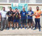 Los deportistas de Casas de Haro, José Daniel Martínez y José Chazarra, se alzan con la victoria en el Campeonato de Frontenis de Huete