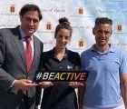 Mariscal da la bienvenida a la Caravana de la Semana Europea del Deporte encabezada por Almudena Cid