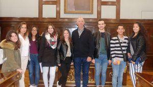 Alumnos de la EFA El Llano de Humanes visitan la Diputación de Guadalajara