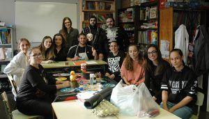 Alumnos del IES José Luis Sampedro desarrollan talleres con los pequeños ingresados en Pediatría en el Hospital de Guadalajara