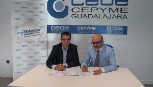 CEOE-Cepyme Guadalajara y Asesoría Toledo renuevan su convenio de colaboración
