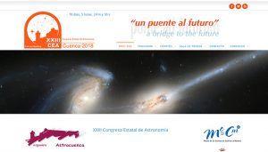 Cerrado el plazo de inscripción para participar en el XXIII Congreso Estatal de Astronomía que se celebra en Cuenca del 1 al 4 de noviembre