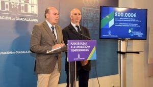 Diputación de Guadalajara pone en marcha un Plan de Apoyo a la Contratación y Emprendimiento con 800.000 euros para el fomento del empleo