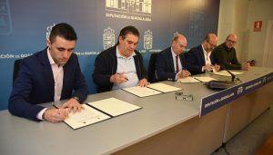 Diputación de Guadalajara presta su apoyo a los clubes deportivos Azuqueca, Marchamalo y Dínamo Guadalajara a través de convenios de colaboración