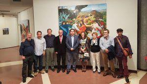 Doménech arropa al Grupo Arte 6 en su primera exposición en Madrid