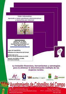 El Centro de la Mujer de Cabanillas organiza un taller sobre gestiones administrativas y bancarias por internet