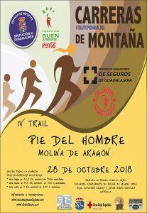 El domingo 28 de octubre, III Trail Pie del Hombre en Molina, penúltima prueba del Circuito que organiza la Diputación de Guadalajara