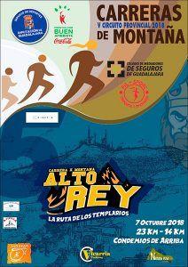 El domingo 7 de octubre, V Carrera por Montaña Alto Rey, quinta prueba del Circuito que organiza la Diputación de Guadalajara