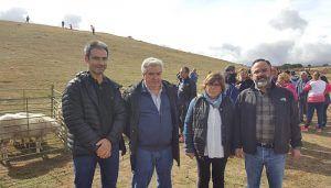 Enjuto resalta el apoyo de la Diputación de Guadalajara para seguir manteniendo la Feria de Ganado de Cantalojas