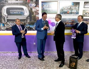 Prieto felicita a la Peña Madridista de Casasimarro por sus 25 años de historia