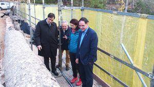 Prieto y Mariscal muestran su satisfacción por el buen ritmo de las obras de rehabilitación del Puente del Chantre