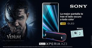 """Ya se puede reservar el nuevo Xperia XZ3 y consigue un altavoz bluetooth y una entrada doble para ver la película """"Venom"""""""
