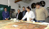 Diputación de Cuenca acomete la restauración de un lienzo de ánimas del siglo XVIII de Villaescusa de Haro