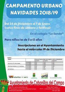 El Ayuntamiento de Cabanillas organiza nueva edición de su Campamento Urbano de Navidad, para escolares de Infantil y Primaria